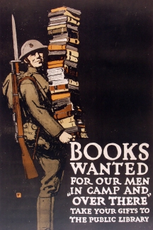 "Original WWI Poster. ""Books Wanted"" by Charles Buckles Falls 1918"