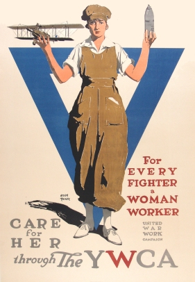 """Care for Her YWCA"" by Adolph Treidler. Offset Lithograph c.1918"