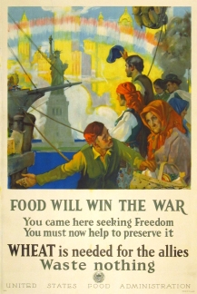 """Food Will WIn the War"" by Charles E Chambers. c. 1917"