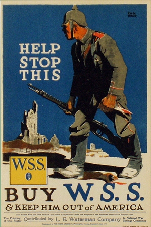 """""""Help Stop This W.S.S.,"""" Adolph Treidler, 1918. Fair Condition."""