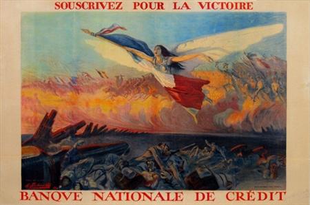 """""""Souscrivez pour la Victoire,"""" M. Richard Butz, 1916. Fine Condition."""