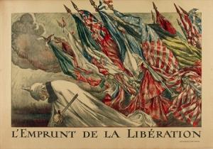 Jules Abel Faivre, Original L'Emprunt de la Liberation, Printed 1918.