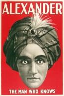 Alexander Original Magician Poster Stone Lithograph