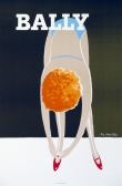 Bally Ballerina Pierre Fix-Masseau Original color lithograph Original bally poster