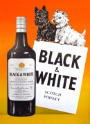Anonymous Black & White Scotch Whisky c. 1960 50. x 35.75 Very Fine Condition