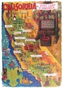 California Wine Land Poster Original Offset Lithograph Amado Gonzalez Original Wine Poster