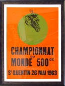 """Championnat Du Monde 500"" 1963 39.50 x 29.50 (inches) $1,850"