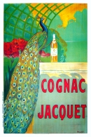 Cognac Jacquet Original Stone Lithograph Spirits Poster French Advertising Poster