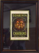 Dehaynin Charbons Cappiello Label Original Stone lithograph