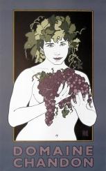 Domaine Chandon David Lance Goines Original Poster Vintage Posters Wine Posters