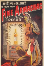 Fine Armagnac Original Stone Lithograph Art Deco Oge French Advertising French Armagnac