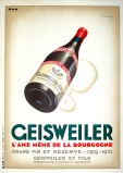 Geisweiler Martin Art Deco Original Stone Lithograph Vintage Poster Beverage Posters