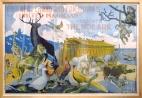 Original Stone Lithograph Horizontal Poster Magician poster