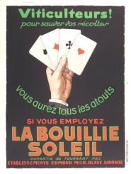La Bouillie Soleil Original stone lithograph French poster Art Deco