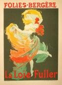 La Loie Fuller Original Cheret poster Original Stone lithograph Original maitre de l'affiche