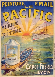 Le Pacific Original Stone Lithograph French advertising posters