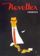 Noveltex Chemises Rene Gruau Mid Century Original Poster French Fashion Menswear