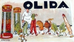 Olida Label Original food label Stone lithograph