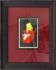 """Pierrot"" 13 x 10.50 (inches) $750 black frame"