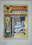 Theodora Maitre Pl. 214 Original Stone lithograph French theater poster