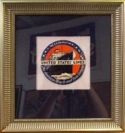 """""""United States Lines"""" 10.50 x 9.75 (inches) $480 silver frame"""