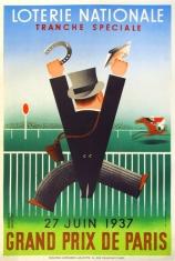 Loterie Nationale Grand Prix De Paris, Derouet, 1937