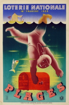 Loterie Nationale Plages, Derouet, 1939