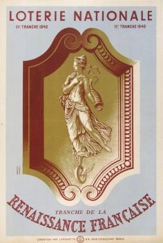 Loterie Nationale Renaissance Francaise, Derouet, 1939
