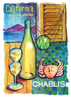 California Wine Land Chablis, Original Color Poster