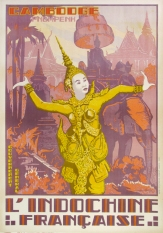 Indochine Francaise Cambodge, Original Color Poster