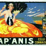 """""""Fap Anis"""" 1921, 53.5 x 62.5 $2400 black frame"""
