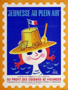 Jeunesse au Plein Air (girl on stamp)