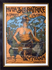 """""""Nuova Zolfatrice"""" c. 1900, 47 x 36 $2100"""