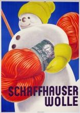 """""""Schaffhauser Wolle"""" c. 1930, 55.5 x 40.5 (inches) $2,400"""