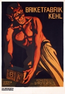 """Briketfabrik Kehl"" c. 1930, 43 x 31 (inches) $2100 dark wood frame"