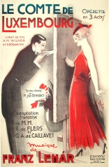 """Le Comte de Luxembourg"" 1934, 47 x 31 (inches) $1500 black frame"