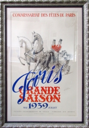 """Paris Grande Saison"" 1939, 46 x 31.5 $1650 gold wood frame"