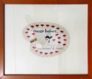 """Rouge Baiser Palette"" c. 1950, 16.75 x 19.75 $300 brown wood frame"